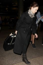 Felicity Jones at LAX Airpot in LA 1/6/ 2017