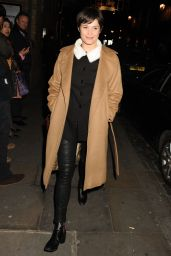 Gemma Arterton - Leaving The Donmar Warehouse in London 01/04/ 2017