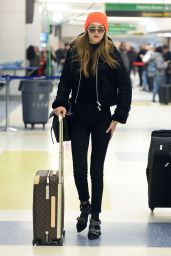 Gigi Hadid - Arrives at JFK Airport in NYC 1/13/ 2017