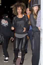 Halle Berry Night Out Style - Los Angeles, January 2017