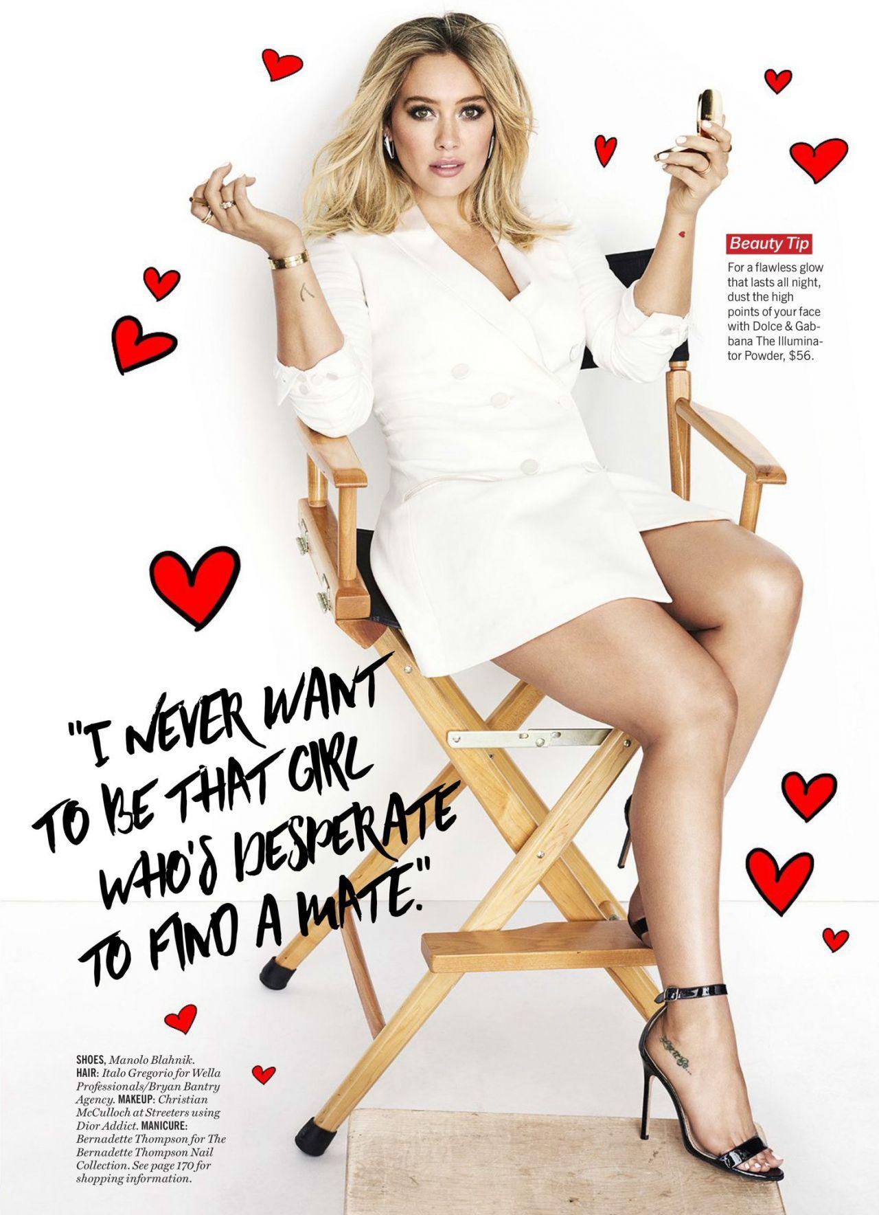Hilary Duff  Cosmopolitan Magazine April 2015 Issue Hilary Duff ...