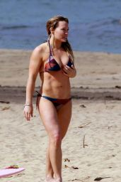 Hilary Duff in Bikini at a Beach in Hanalei, Hawaii 01/01/ 2017