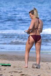 Hilary Duff  in Bikini at the Beach in Hawaii 1/1/ 2017