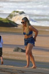 Hilary Duff in Bikini Top at a Beach in Hawaii 1/2/ 2017 - Part II