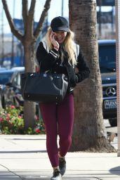 Hilary Duff in Tights - StudioCity 1/17/ 2017