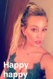 Hilary Duff - Showing Some Cleavage on Snapchat 12/31/ 2016