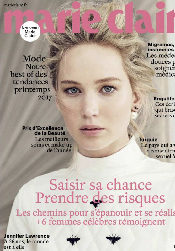 Jennifer Lawrence - Marie Claire Magazine February 2017 Issue