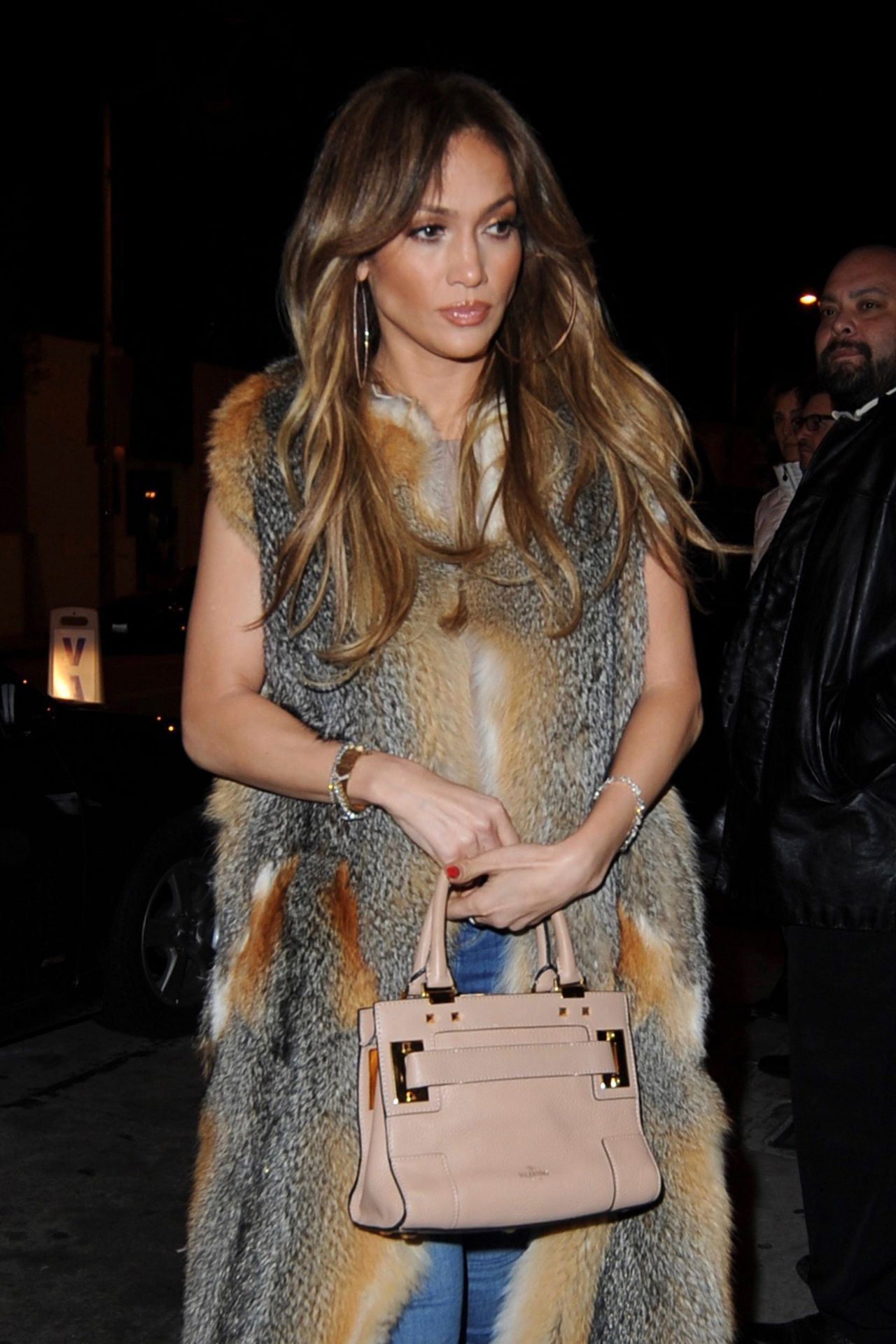 J Lo leaving Catch LA restaurant