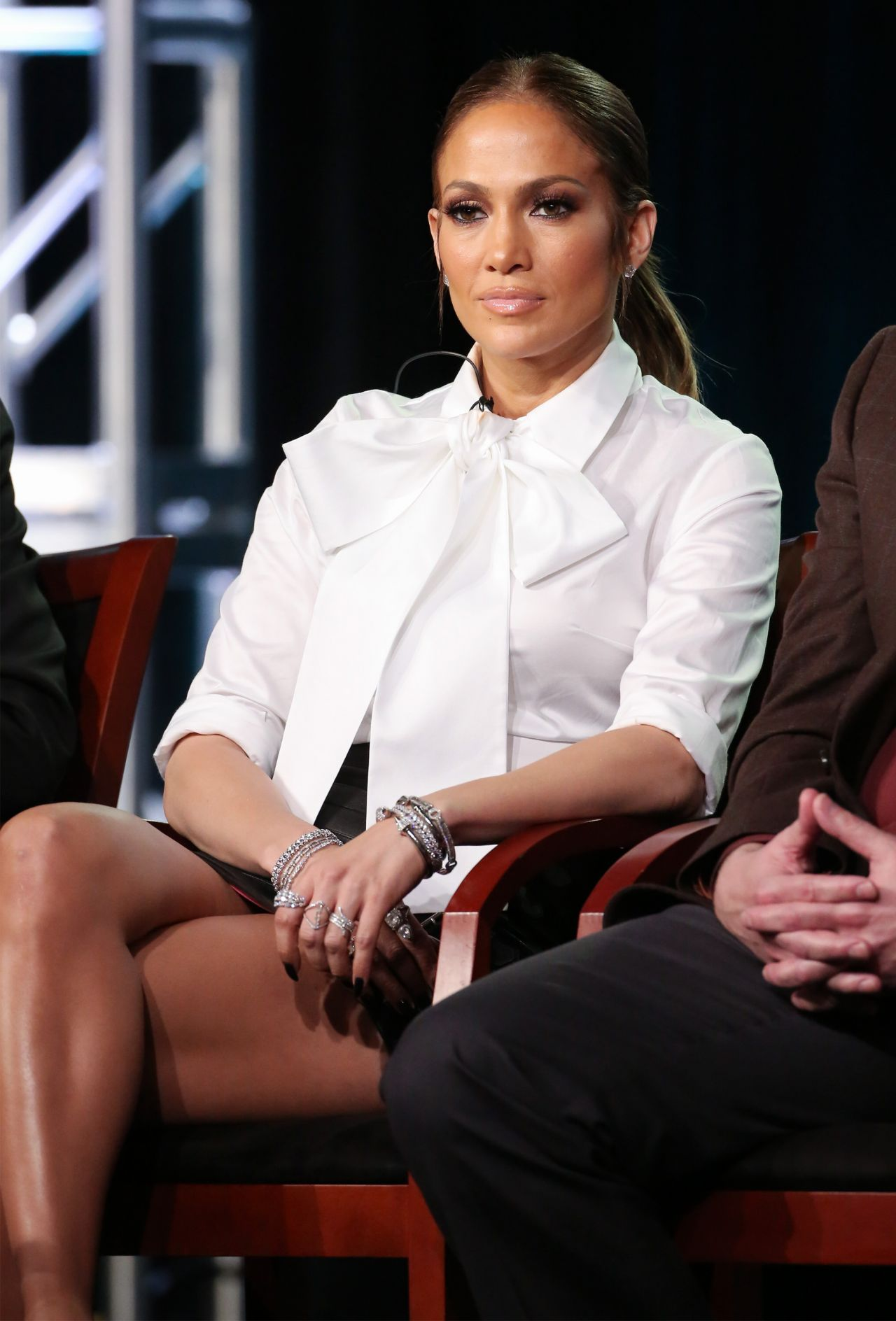 Jennifer Lopez looking hot during press tour