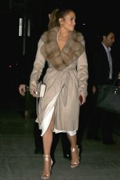 Jennifer Lopez Night Out Style - Los Angeles, California 1/27/ 2017