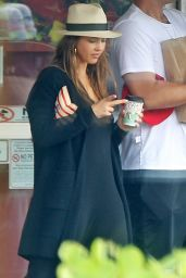 Jessica Alba With a Morning Coffee in Kauai 01/01/ 2017