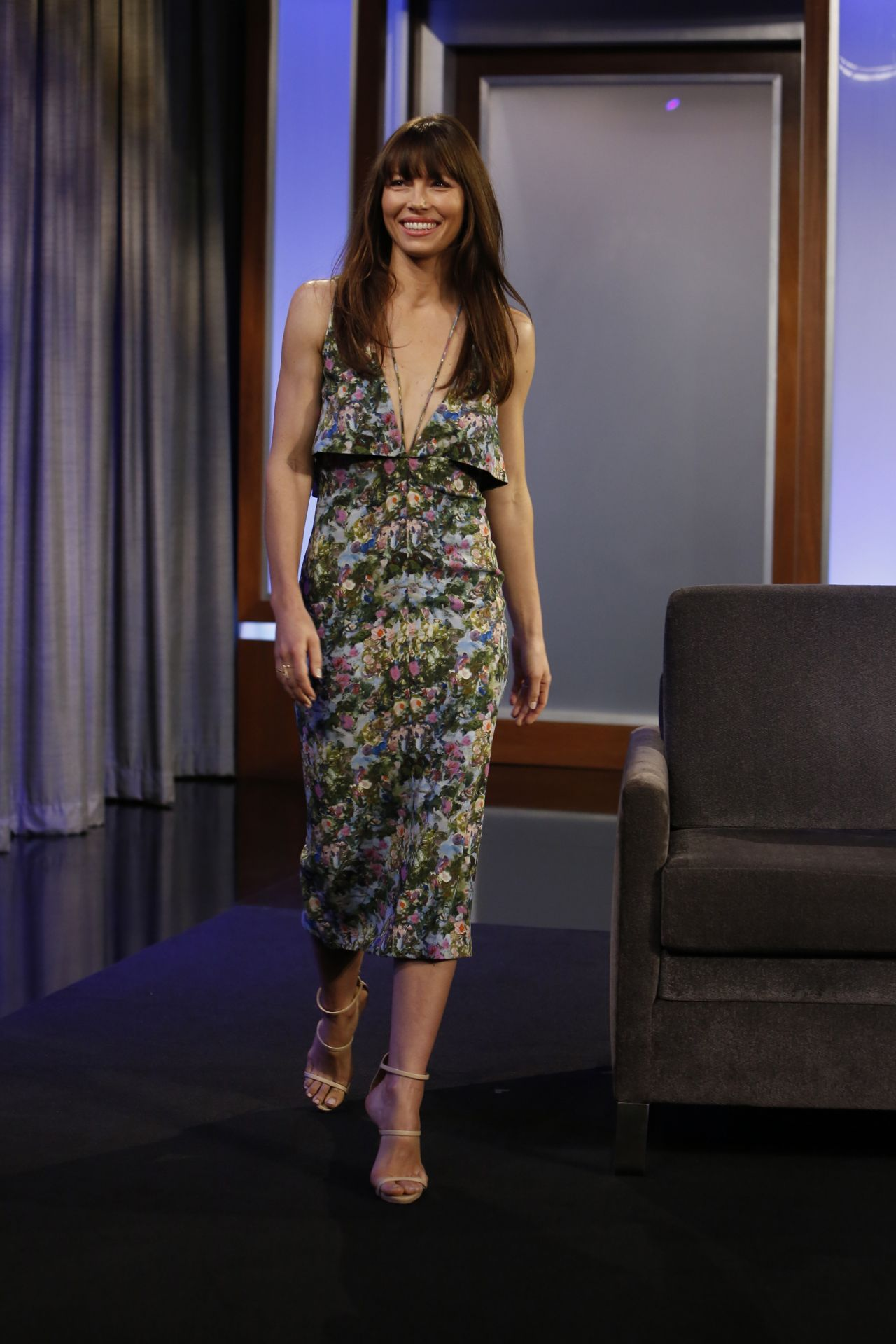 Jessica Biel - Jimmy Kimmel Live! in Hollywood 01/11/ 2017