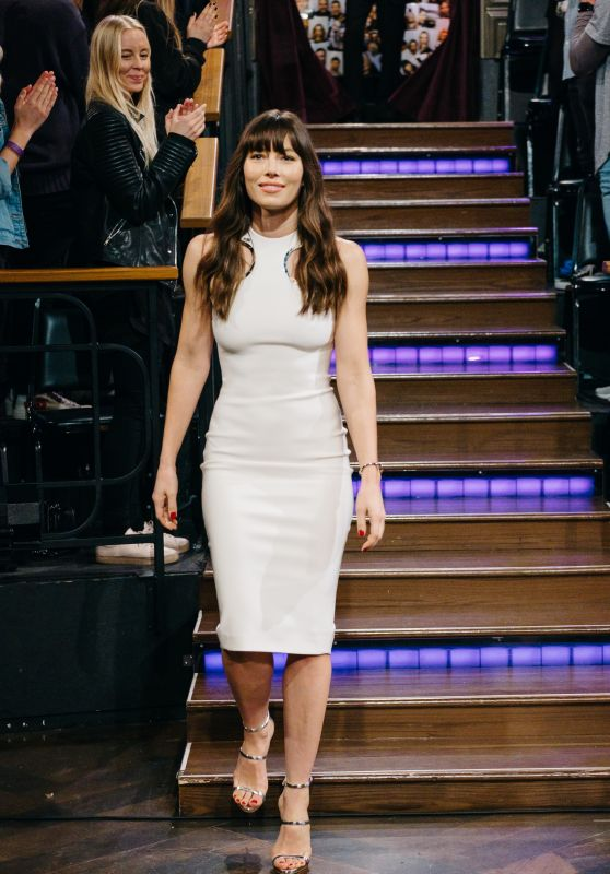 Jessica Biel - The Late Late Show With James Corden in LA 1/12/ 2017