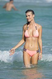 Joanna Krupa in Bikini on the Beach in Miami 12/31/ 2016