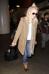 Julianne Hough Travel Outfit - LAX Airport in Los Angeles 1/4/ 2017