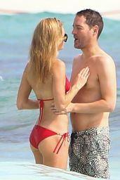 Kate Bosworth in Red Bikini on the Beach in Mexico 12/29/ 2016