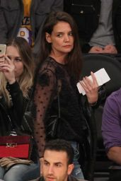Katie Holmes - Watches the Lakers Lose Another game in LA 1/15/ 2017