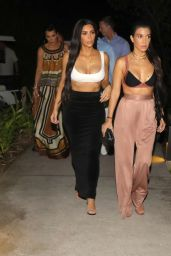 Khloe Kardashian, Kourtney Kardashian & Kim Kardashian - Going to Dinner in Costa Rica 1/28/ 2017