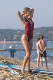Kimberley Garner in Swimsuit - Paddleboarding in San Tropez 1/4/ 2016