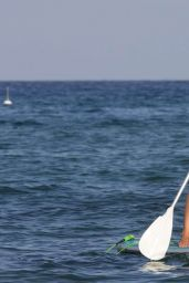 Kimberley Garner in Swimsuit - Paddleboarding in San Tropez 1/4/ 2016