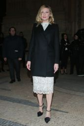 Kirsten Dunst - Arrives at the Ralph & Russo Fashion Show in Paris 1/23/ 2017
