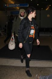 Kristen Stewart - LAX Airport in Los Angeles 1/17/ 2017