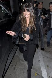 Lea Michele - Leaving Dinner at