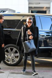 Lea Michele - Prepares to Depart Form LAX in Los Angeles 1/24/ 2017