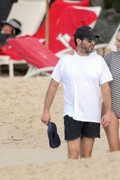 Leelee Sobieski on The Beach on St. Barts, Caribbean 12/30/ 2016