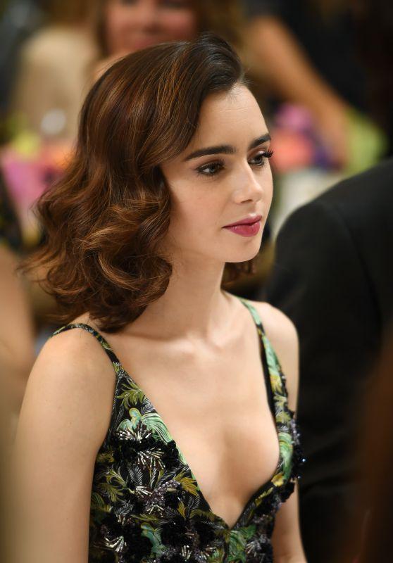 Lily Collins - Arriving at W