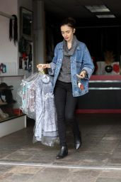Lily Collins - Leaving the Dry Cleaners in Beverly Hills 1/5/ 2017
