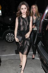 Lily Collins Night Out Style -  at Catch in LA 1/6/ 2017
