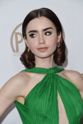 Lily Collins -Producers Guild Awards in Beverly Hills 1/28/ 2017