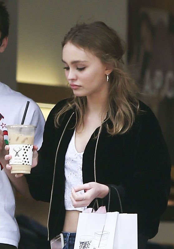 Lily-Rose Depp - Picks up Some Coffee in West Hollywood 1/3/ 2017