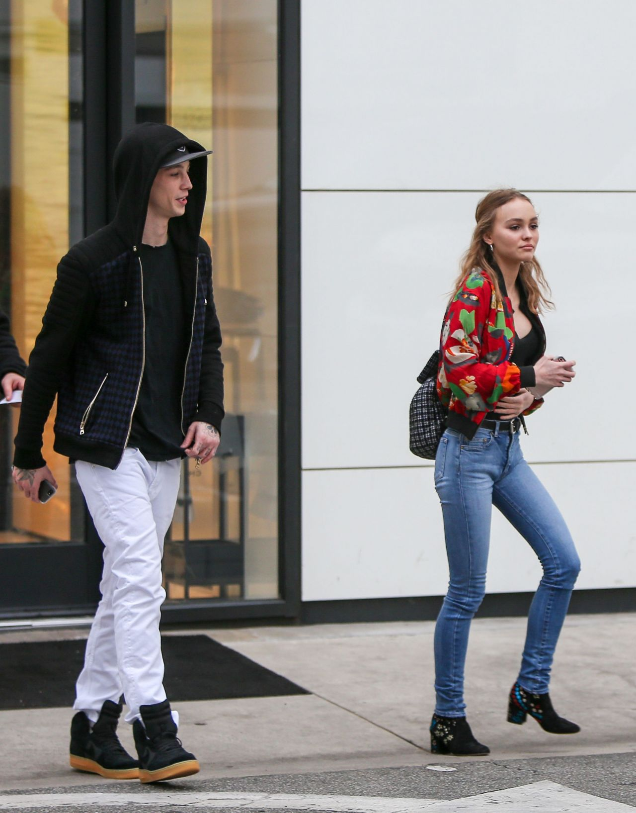 4d798856ddce Lily-Rose Depp – Shopping at Chanel With Boyfriend Ash Stymest, Beverly  Hills 1/2/ 2017