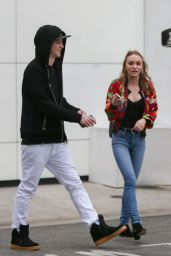 Lily-Rose Depp - Shopping at Chanel With Boyfriend Ash Stymest, Beverly Hills 1/2/ 2017