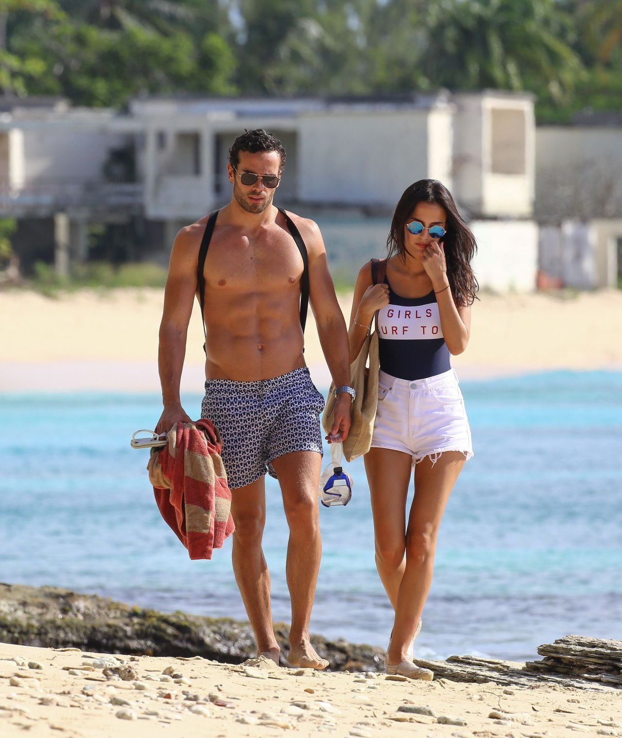 ebf42ae838f Lucy Watson in Swimsuit on the Beach in Barbados 1/4/ 2017