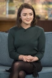 Maisie Williams at This Morning in London 1/24/ 2017