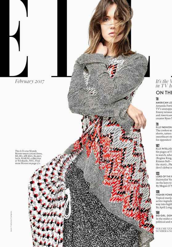 Mandy Moore - Elle Magazine USA February 2017 Issue
