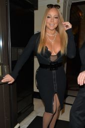 Mariah Carey - Leaving Her Hotel in London 01/15/ 2017