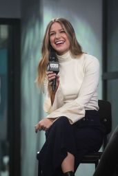 Melissa Benoist - Build Series in New York City, January 2017