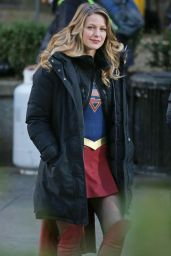 Melissa Benoist - Supergirl Set in Vancouver 1/5/ 2017
