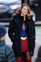 Melissa Benoist - Supergirl Set in Vancouver 1/5/ 2017