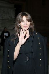 Monica Bellucci - Leaving the Alexandre Vauthier Haute Couture Spring Summer 2017 Show in Paris 1/24/ 2017