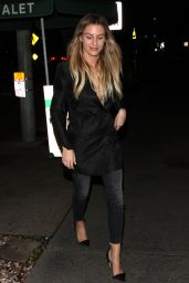 Morgan Stewart - Dines Out at Madeo Restaurant in West Hollywood 1/13/ 2017