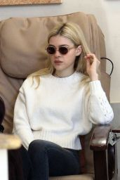 Nicola Peltz at a Nail Salon in Beverly Hills 1/16/ 2017
