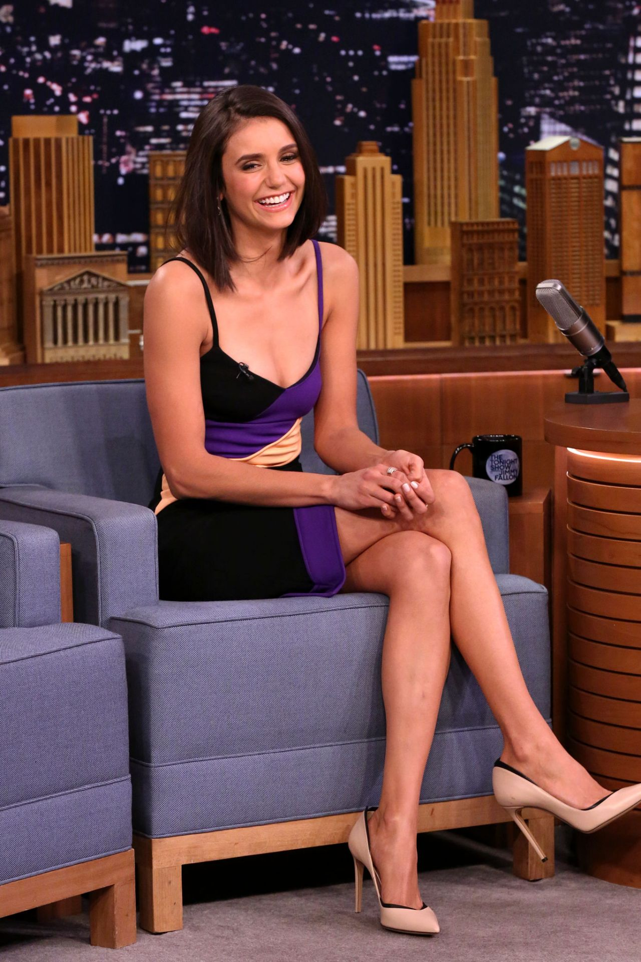 Nina Dobrev Appears On The Tonight Show Starring Jimmy