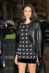 Nina Dobrev - Heading to AOL Studios to Promote
