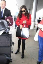 Nina Dobrev Travel Outfit - LAX in LA 1/9/ 2017