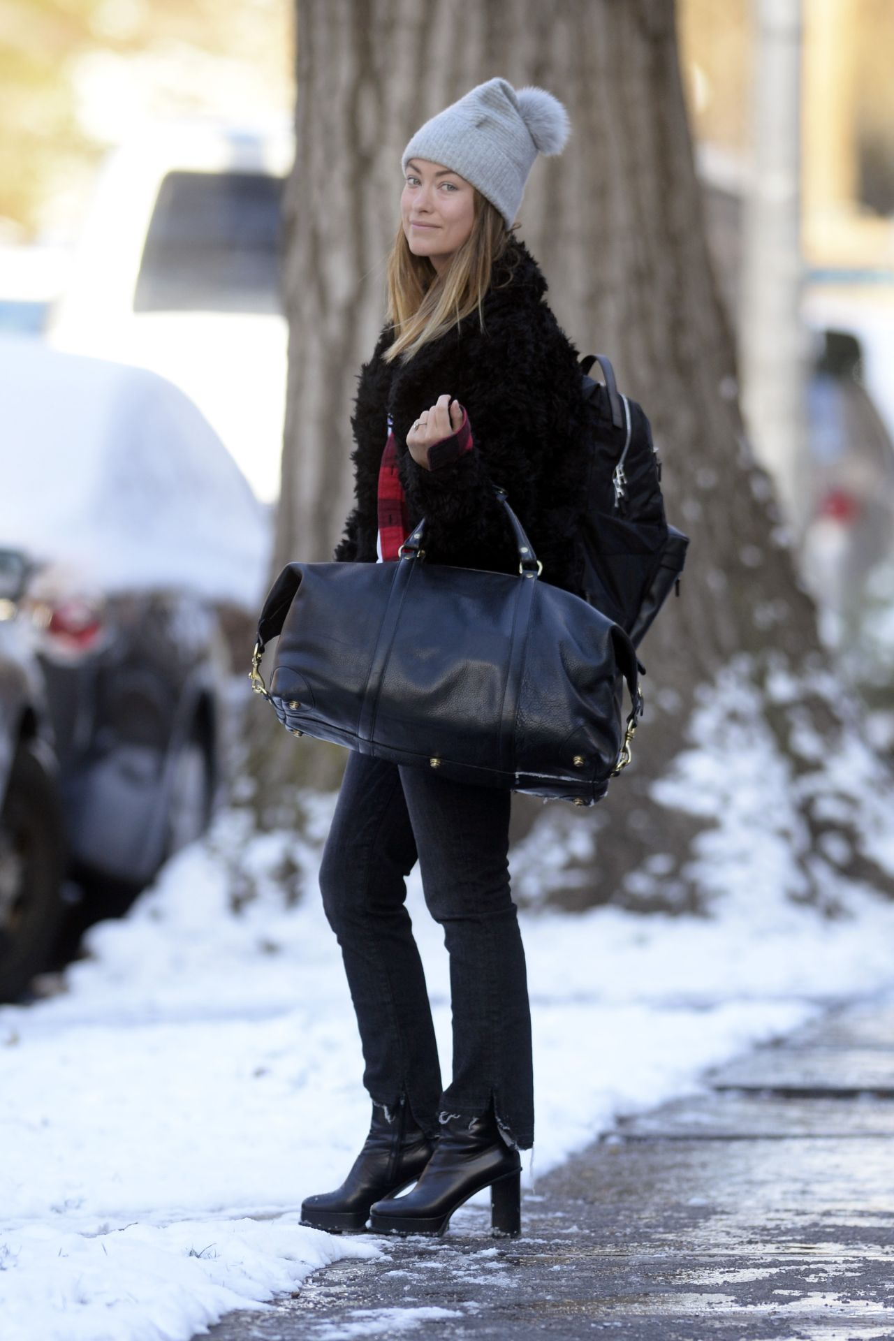 Olivia wilde leaving her hotel in nyc new images